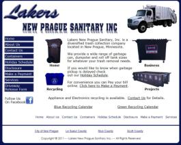 Click to display Lakers New Prague Sanitary Info