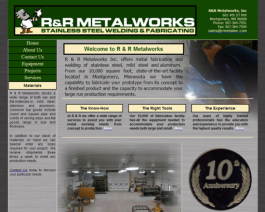 Click to display R & R Metalworks Info