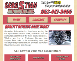 Click to display Sebastian Automotive Info