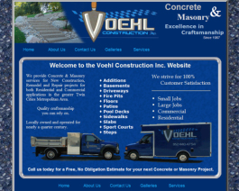 Click to display Voehl Construction Info