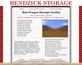 Click to display Bendzick Storage Info