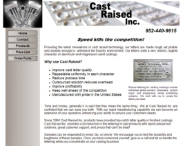 Click to display Cast Raised Inc. Info