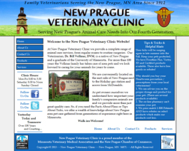 Click to display New Prague Veterinary Clinic Info