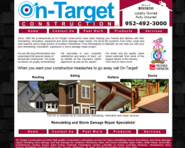 Click to display On Target Construction Info