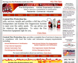 Click to display Central Fire Protection Inc. Info