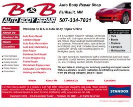 Click to display B & B Auto Body Repair Info