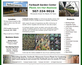 Click to display Faribault Garden Center Info