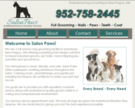 Click to display Salon Paws Info