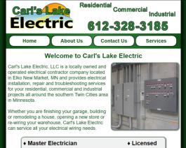 Click to display Carl's Lake Electric Info