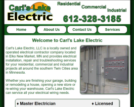 Click to display Carl's Lake Electric Info