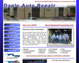 Click to display Dan's Auto Repair Info