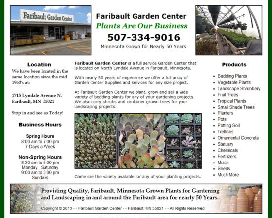 Faribault Garden Center