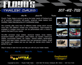 Click to display Floyd's Trailer Sales Info