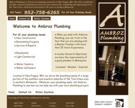 Click to display Ambroz Plumbing Info