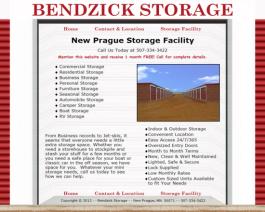 Click to display Bendzick Storage Info