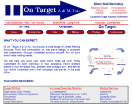 Click to display On Target Mailing Info