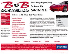 Click to display B & B Auto Body Repair Info