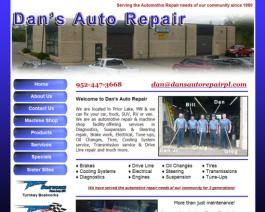 Click to display Dan's Auto Repair Info