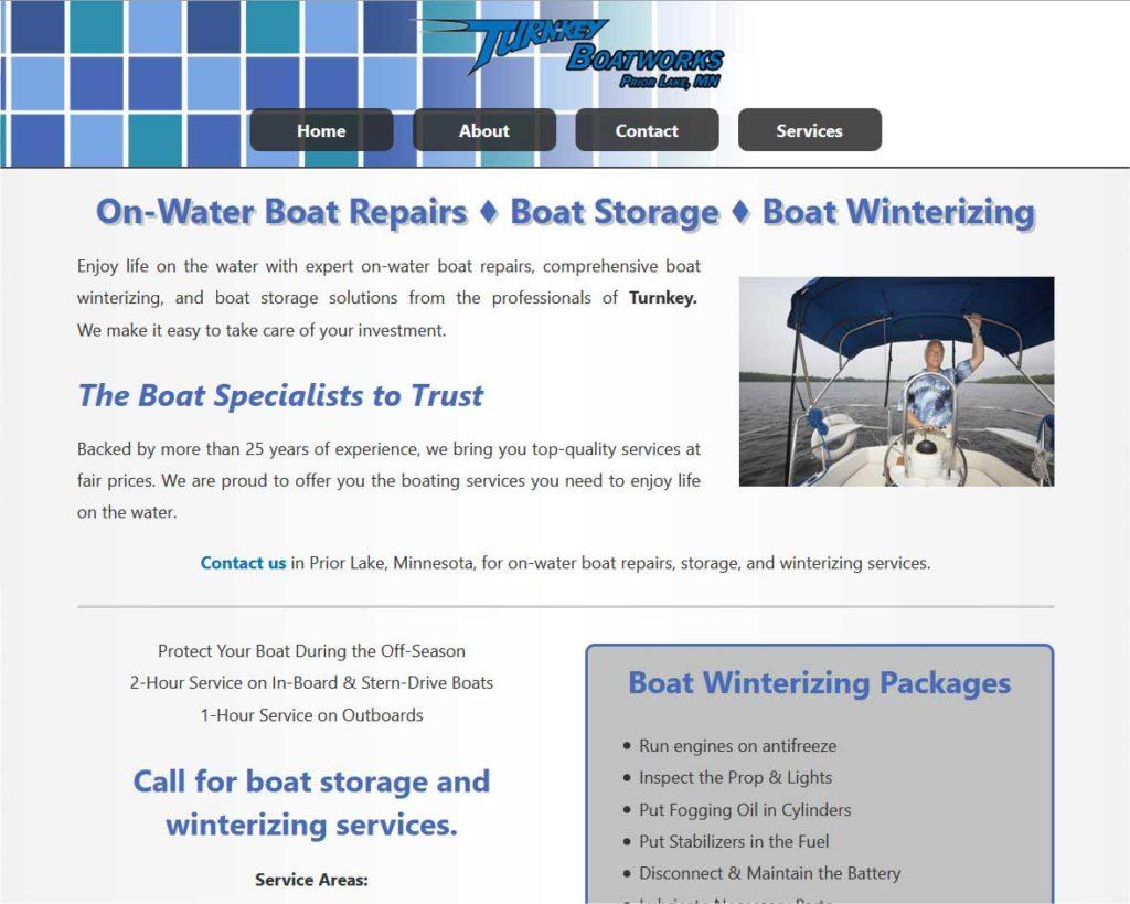"""<a href=""""https://www.turnkeyboatworkspl.com/"""" target=""""_blank"""" rel=""""noopener noreferrer"""">Turnkey Boatworks</a> <br />Prior Lake, MN"""